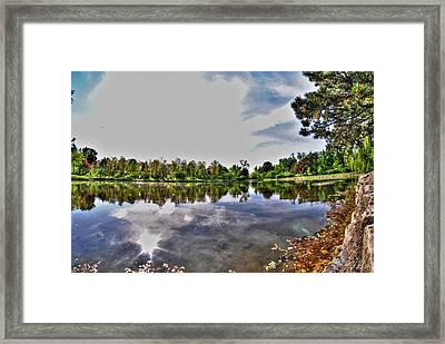002 Reflecting At Forest Lawn Framed Print by Michael Frank Jr