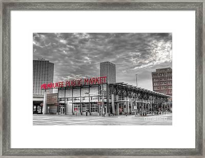 0038 Milwaukee Public Market Framed Print by Steve Sturgill