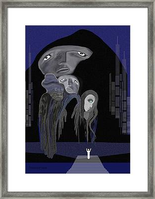 004 - Arrival Of The Gods  Framed Print by Irmgard Schoendorf Welch