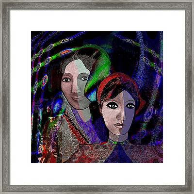 007 - Exotic Ladies  Framed Print by Irmgard Schoendorf Welch