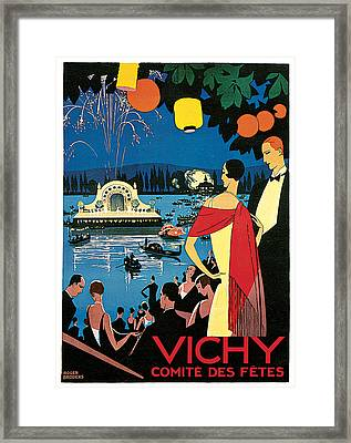 Vichy Festival Committee  Framed Print by Roger Broders