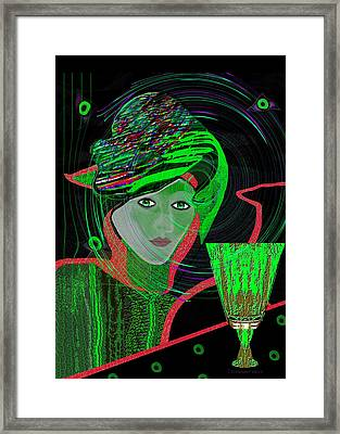 010 - No Drink Anymore Framed Print by Irmgard Schoendorf Welch