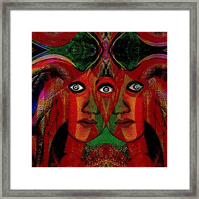 019 - Gemini Poster    Framed Print by Irmgard Schoendorf Welch