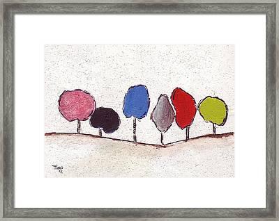 02 Trees Framed Print by Mirko Gallery