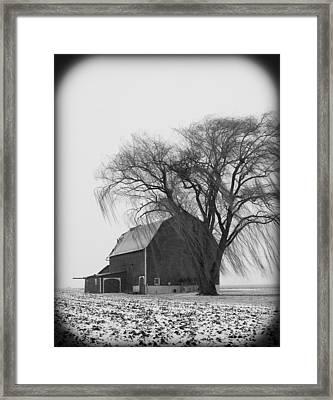 020213-67   Prairie Winter II Framed Print by Mike Davis