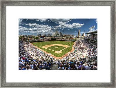 0234 Wrigley Field Framed Print by Steve Sturgill