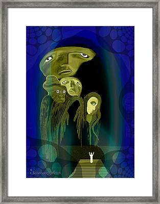 028 -  The  Arrival Of The Gods  Framed Print by Irmgard Schoendorf Welch