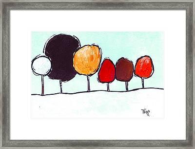 03 Trees Framed Print by Mirko Gallery
