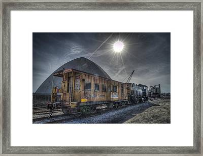 03.21.14 Csx Switcher - Co Caboose Framed Print by Jim Pearson