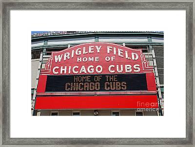 0334 Wrigley Field Framed Print by Steve Sturgill