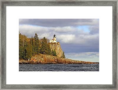 0376 Split Rock Lighthouse Framed Print by Steve Sturgill