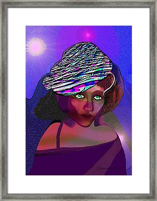 049 - She Came At Midnight  Framed Print by Irmgard Schoendorf Welch