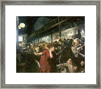 Election Night Framed Print by John Sloan