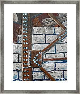 052  Rivetered Too Framed Print by Gregory Otvos