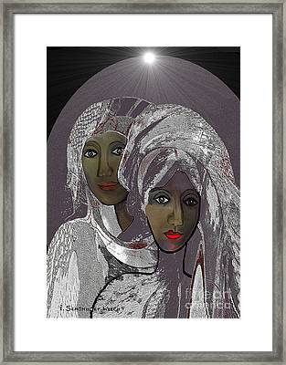 065 - White Veiled Ladies   Framed Print by Irmgard Schoendorf Welch