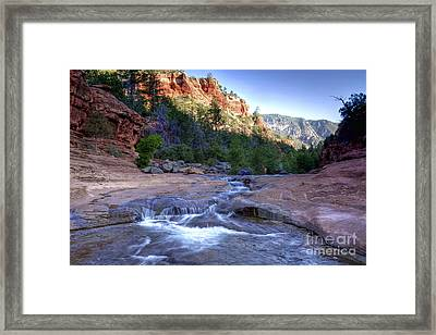 0696 Slide Rock State Park Framed Print by Steve Sturgill