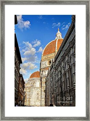 0821 The Basilica Of Santa Maria Del Fiore - Florence Italy Framed Print by Steve Sturgill