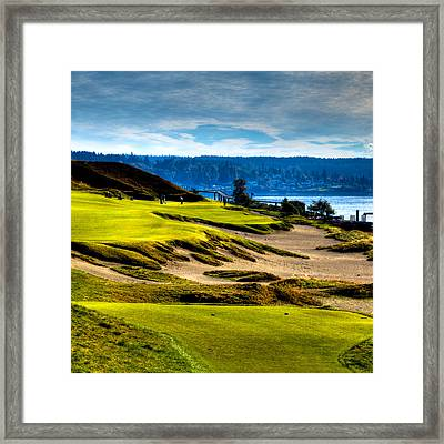 #16 At Chambers Bay Golf Course - Location Of The 2015 U.s. Open Tournament Framed Print by David Patterson