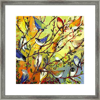 16 Birds Framed Print by Jennifer Lommers