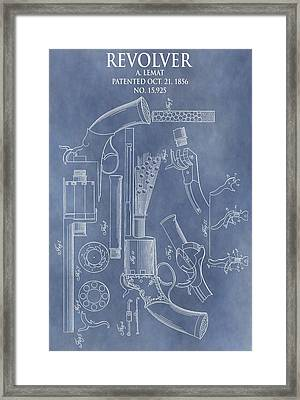 1856 Revolver Patent Framed Print by Dan Sproul