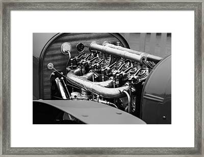 1910 Benz 22-80 Prinz Heinrich Renn Wagen Engine Framed Print by Jill Reger