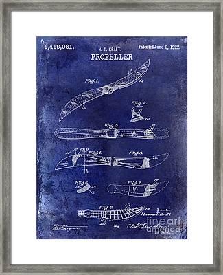 1922 Propeller Patent Drawing Framed Print by Jon Neidert
