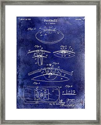 1927 Football Patent Drawing  Blue Framed Print by Jon Neidert