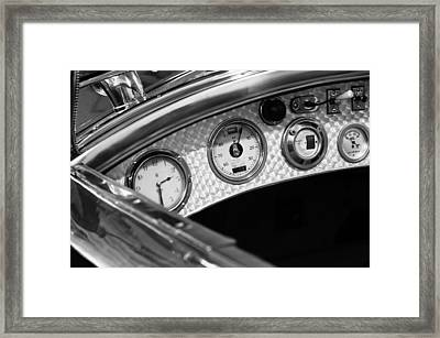 1927 Rolls-royce Phantom I Tourer Dashboard Gauges Framed Print by Jill Reger