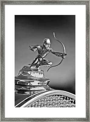 1930 Pierce-arrow Model A Convertible Hood Ornament Framed Print by Jill Reger