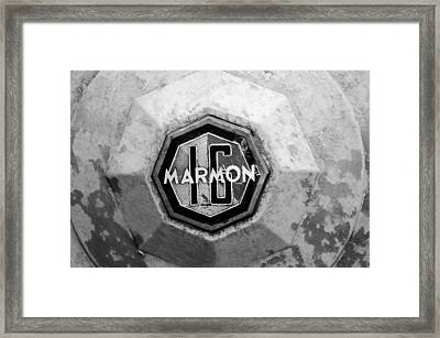 1932 Marmon Sixteen Lebaron Victoria Coupe Emblem Framed Print by Jill Reger