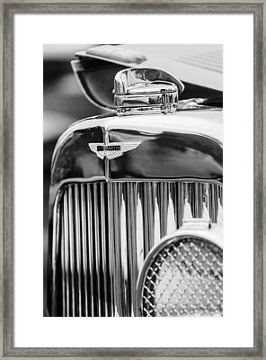 1934 Aston Martin Mark II Short Chassis 2-4 Seater Grille Emblem Framed Print by Jill Reger