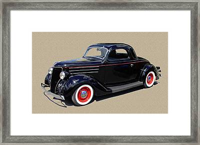 1936 Ford 3 Window Coupe Framed Print by Jack Pumphrey