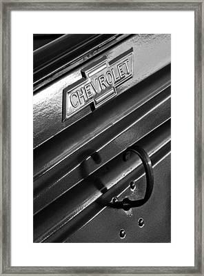 1937 Chevrolet Custom Pickup Emblem Framed Print by Jill Reger