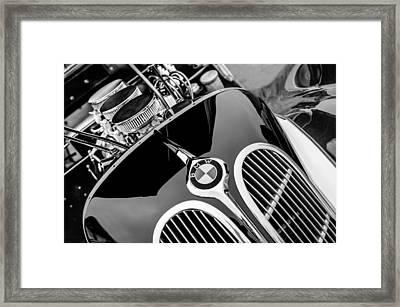 1938 Bmw 327-8 Cabriolet Grille Emblem - Engine Framed Print by Jill Reger
