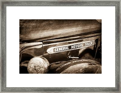 1940 Gmc General Motors Truck Emblem Framed Print by Jill Reger