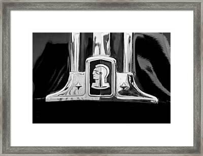 1948 Pontiac Streamliner Woodie Station Wagon Emblem Framed Print by Jill Reger