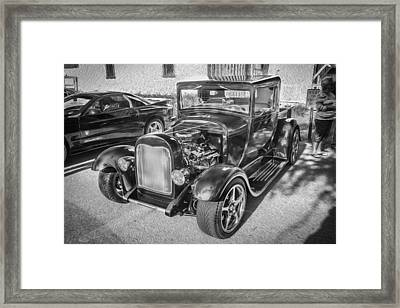 1949 Ford Pick Up Truck Bw Framed Print by Rich Franco