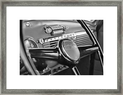 1950 Chevrolet 3100 Pickup Truck Steering Wheel Framed Print by Jill Reger