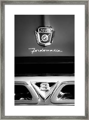 1950's Ford F-100 Pickup Truck Grille Emblems Framed Print by Jill Reger