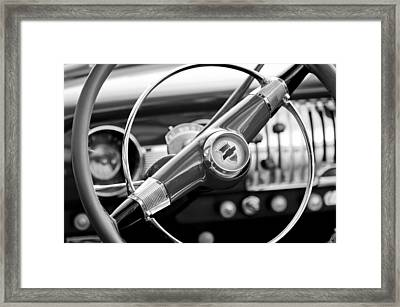1951 Chevrolet Convertible Steering Wheel Framed Print by Jill Reger