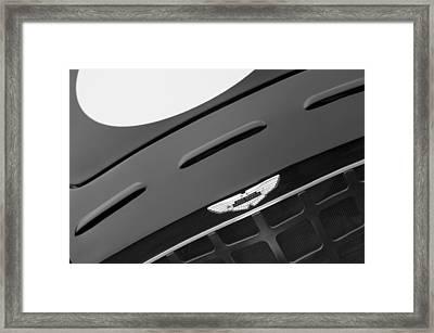 1952 Aston Martin Db3 Sports Grille Emblem Framed Print by Jill Reger