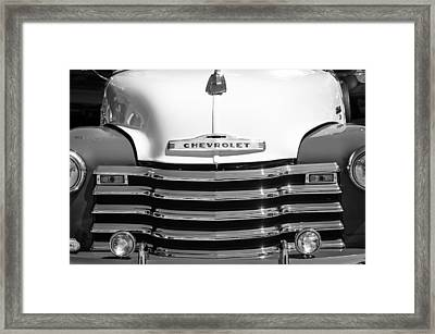 1952 Chevrolet Pickup Truck Grille Emblem Framed Print by Jill Reger