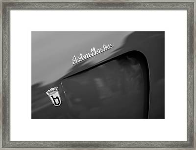 1953 Aston Martin Db2-4 Bertone Roadster Emblems Framed Print by Jill Reger
