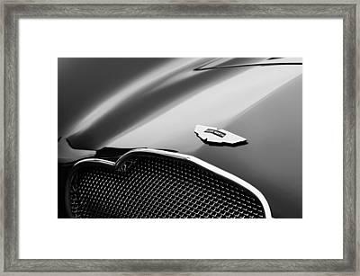 1953 Aston Martin Db2-4 Bertone Roadster Hood Emblem Framed Print by Jill Reger