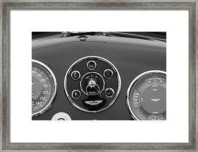 1953 Aston Martin Db2-4 Bertone Roadster Instrument Panel Framed Print by Jill Reger
