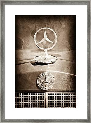 1953 Mercedes Benz Hood Ornament Framed Print by Jill Reger