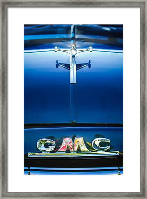 1954 Gmc Pickup Truck Hood Ornament - Emblem Framed Print by Jill Reger