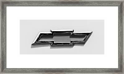 1955 Chevrolet Cameo Pickup Truck Emblem Framed Print by Jill Reger