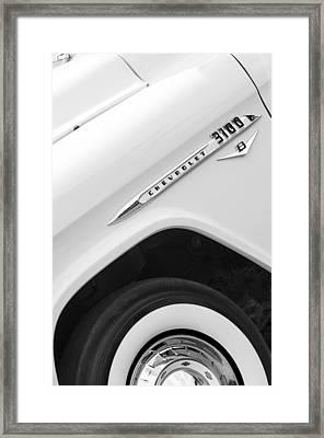 1955 Chevrolet Cameo Pickup Truck Framed Print by Jill Reger