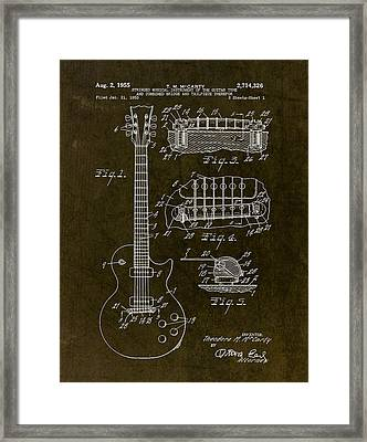 1955 Gibson Les Paul Patent Drawing Framed Print by Gary Bodnar